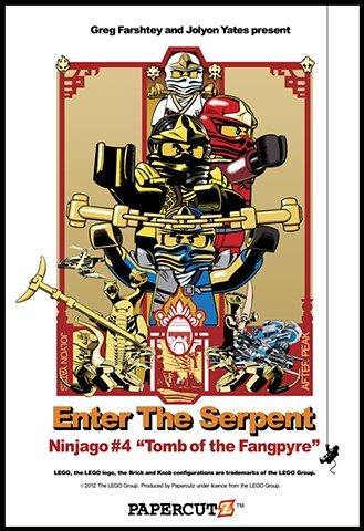 Promotional poster for Ninjago book 4