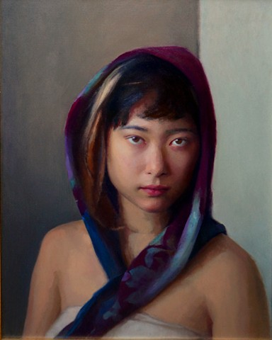 Girl in a Purple Scarf