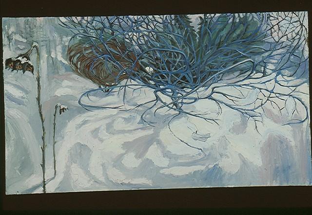Apple Tree & Sunflowers in Winter