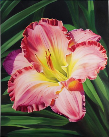 "Day Lily, 2007, Oil on canvas, 30"" x 24"""