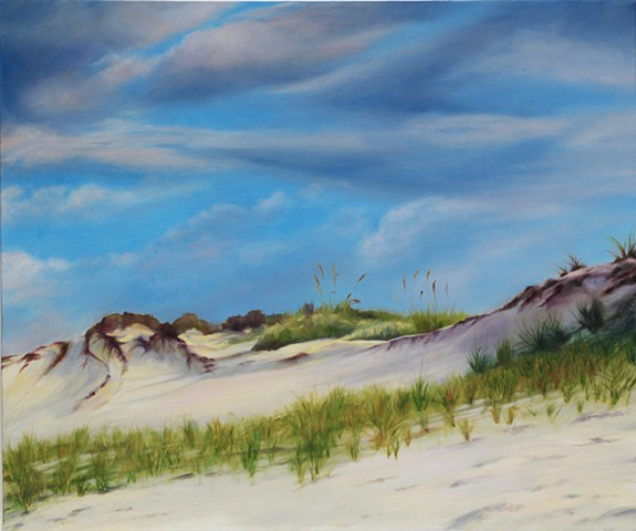 "Gulf Dunes, 2009, Oil on canvas, 20"" x 24"""