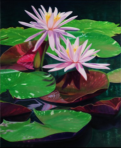 "Water Lilies II, 2010, Oil on canvas, 24"" x 20"""