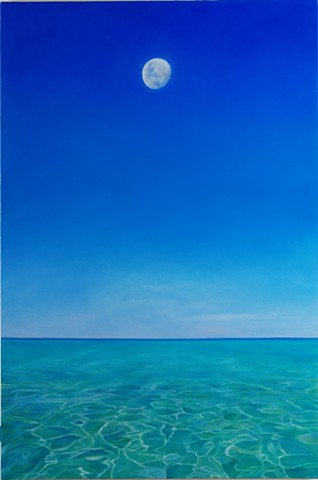 "Gulf Moon, 2008, Oil on canvas, 36"" x 24"""