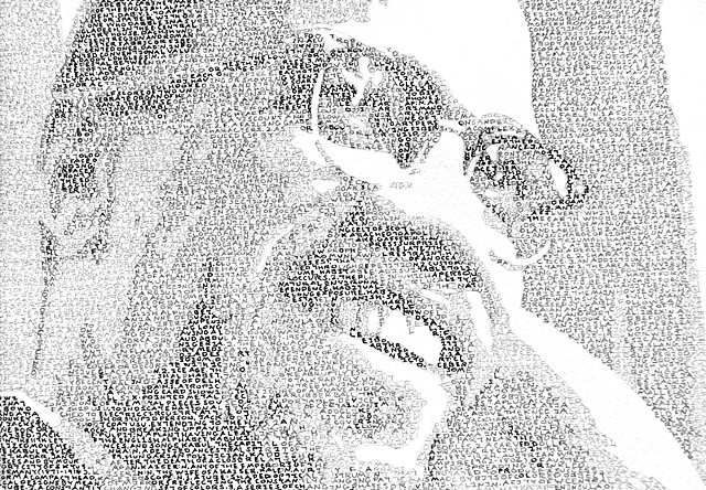 The Journey of a Thousand Miles (Portrait of Malcolm X) (detail)