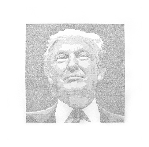 A Man is as Good as His Word (Portrait of Donald Trump)