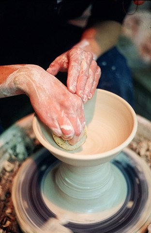 Throwing Pottery Potters Wheel Janet Buskirk