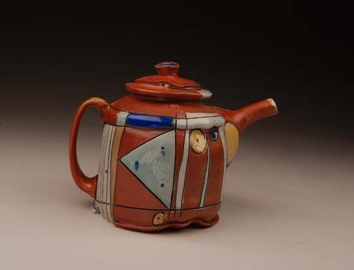 teapot, jim koudelka, salt fired, carnival, soda, functional
