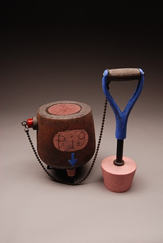 ceramic vessels, scultural vessels, industrial vessels, jim koudelka sculpture, man cans and boy toys