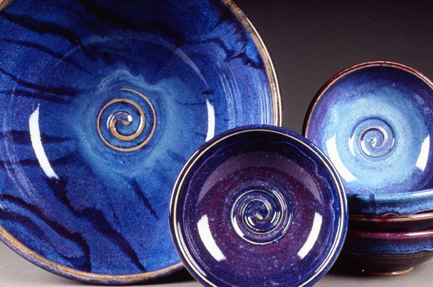 Porcelain Bowls and Stoneware Bowls with colorful glazes