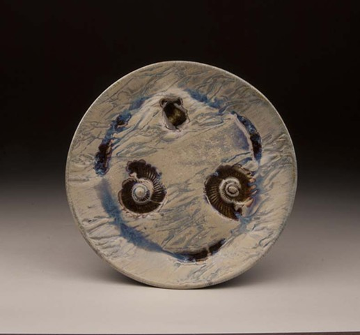 ceramic clay glass fossil plate dinnerware