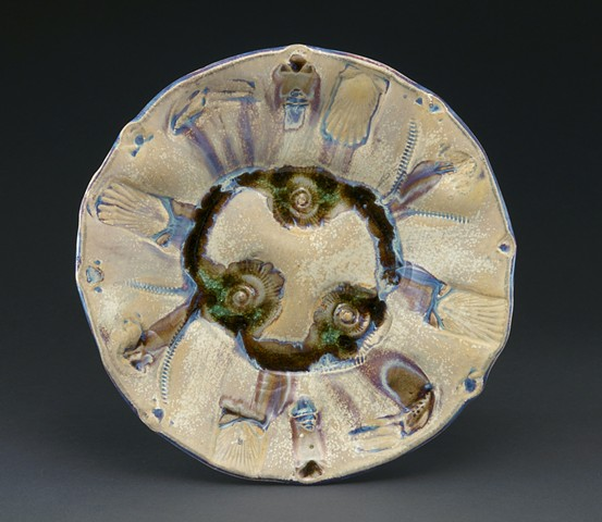 ceramic clay glass fossil tray dinnerware