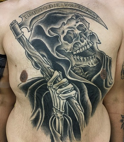 reaper tattoo, Void tattoo, dchc tattoo, time to die you're next, Tad Peyton tattoo, Jinx Proof Tattoo, Washington D.C. tattoo