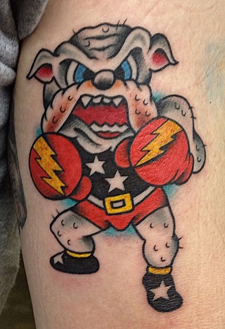 sailor jerry traditional bulldog tattoo