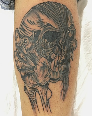 Misfits tattoo, Pushead tattoo
