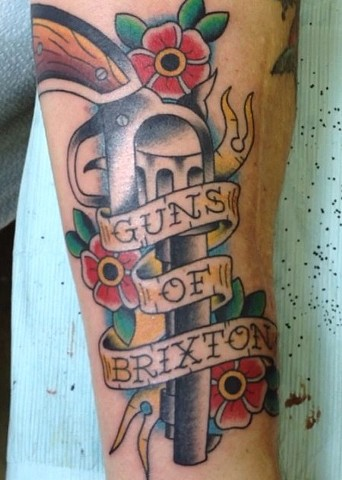 clash tattoo joe strummer guns of brixton tad peyton