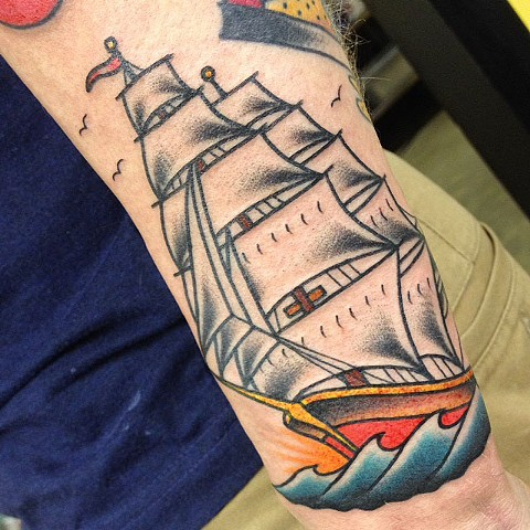 sailor jerry clipper ship tattoo, Tad Peyton tattoo, Jinx Proof Tattoo, Washington D.C. tattoo