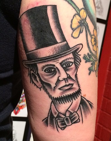 Abe Lincoln tattoo tad peyton