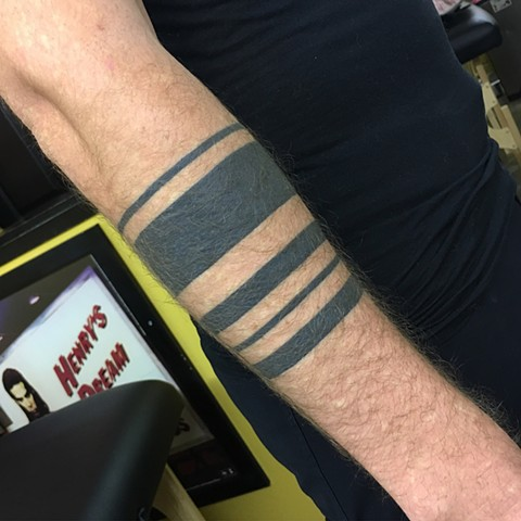 Black armband tattoos, armband tattoos, tribal tattoos, blackwork tattoos, Tad Peyton tattoo, Jinx Proof Tattoo, Washington D.C. tattoo