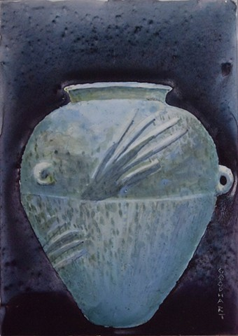 Blue Urn At Night