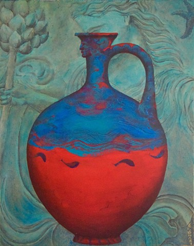 Red And Blue Pitcher