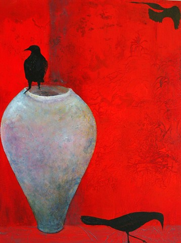 red crows raven blue vessel