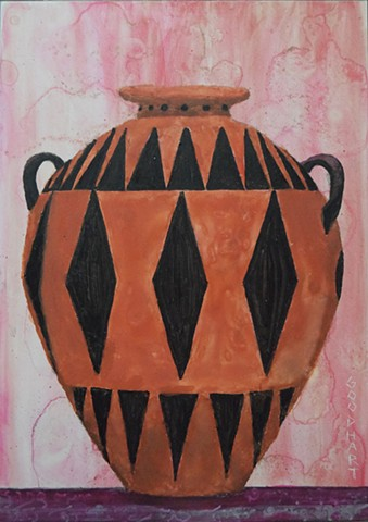 Red And Black Amphora