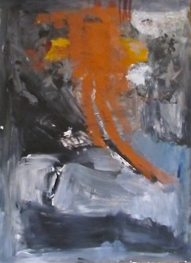 Untitled Grey and Orange