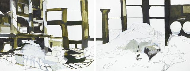 Factory (diptych)