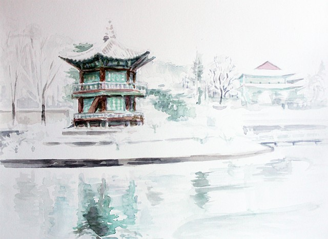 Temple in Winter