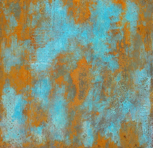 acrylic paint contemporary fine art abstract rust copper