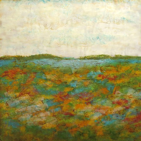 Contemporary landscape encaustic