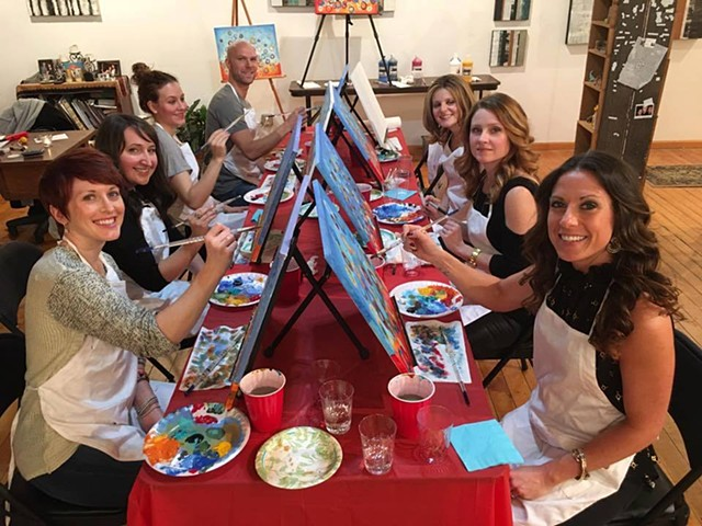 mARTini Studio painting classes