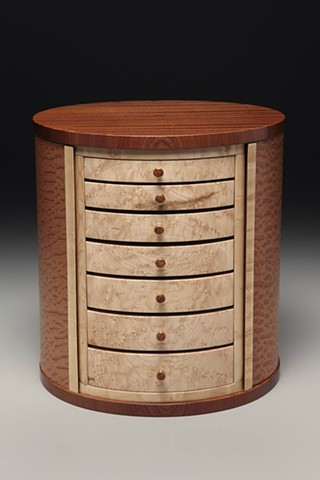 jewelry case with drawers and hooks for hanging jewelry
