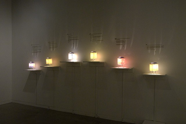 Michael Jackson Fairy Tale Lamps (Installation Shot)