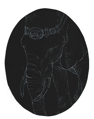 Jackson Menagerie in Mourning:  Elephant