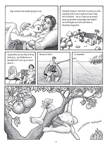 """Page 3 of the graphic novel """"Sexile"""""""