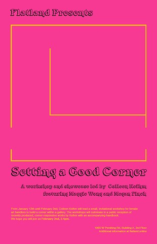 Setting a Good Corner poster