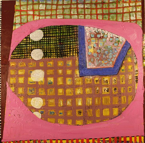 oil, acrylic, painting, thread, mixed media, contemporary art, contemporary painting, art, stacy wendt, abstract, thick paint, circles, grid
