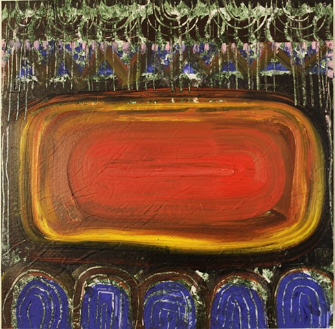 painting, linoleum, oil painting, mixed media, contemporary art, los angeles, stacy wendt