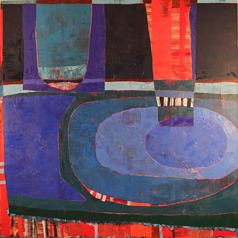 color, warm, cool, shapes, painting, oil paint, layering, contemporary paint, square, art, los angeles, stacy wendt