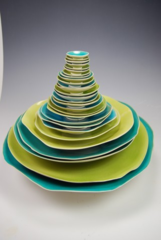 29 individual pieces, cone six porcelain, created by TeesdaleStudios