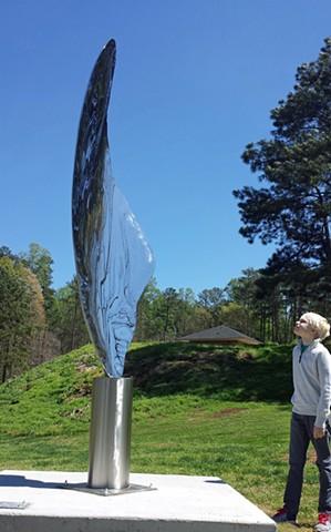 Endangered butterfly wing sculpture