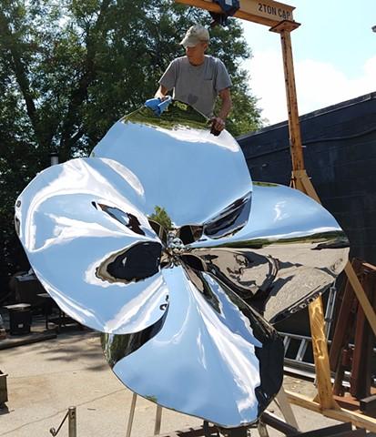 Hydrangea floret sculpture