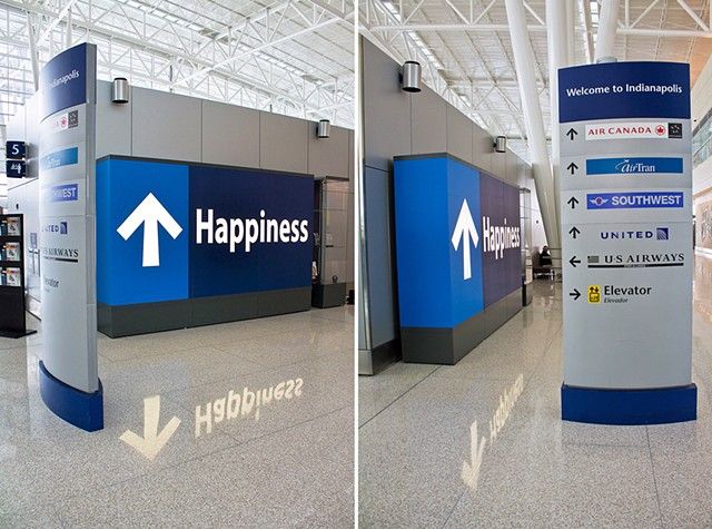 Happiness at the Indianapolis International Airport