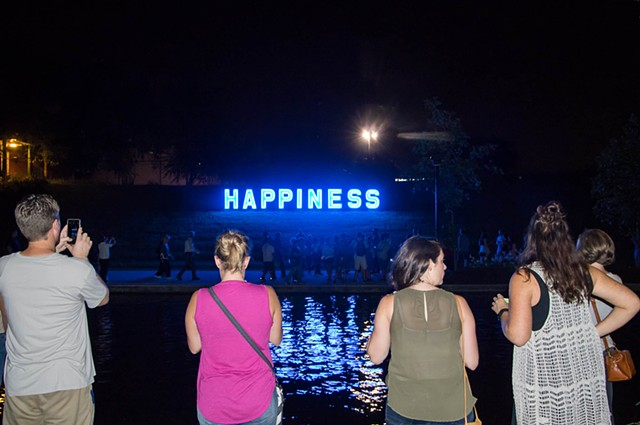 Happiness at IN Light IN Festival