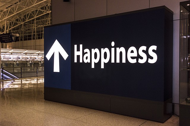 Happiness Sign Indianapolis Airport Jamie Pawlus