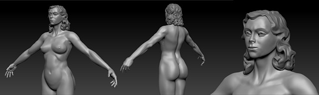 Andromeda V Pose Sculpt Close Up