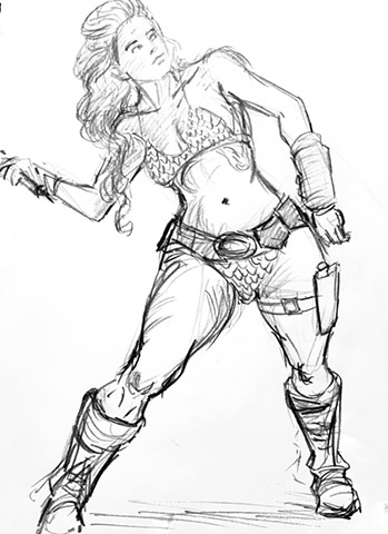 Red Sonja sketch v5