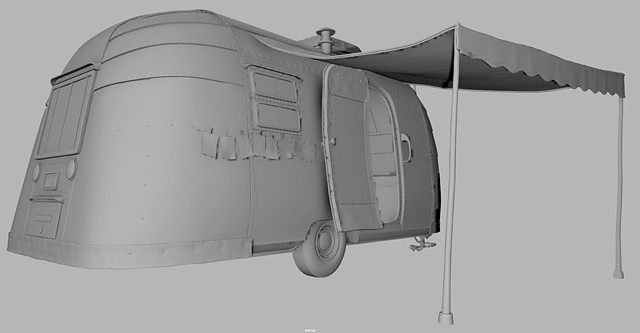 Camper stylized shapes and added tertiary detail