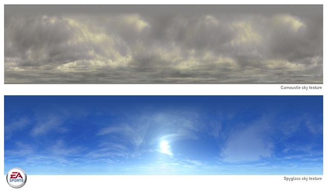 Carnoustie and Spyglass sky textures